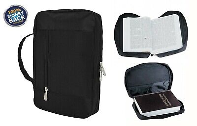 Bible Cover Zipper Protective Holy Book Tote Bag Poly Black For Pastor - Bible Bag