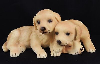 Very Cute Porcelain Royal Osborne Trio of Labrador Puppies