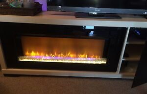 Electric Hardwood Fireplace (Perfect TV stand)