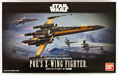 Bandai Star Wars Poe's X-Wing Fighter 1/72 scale kit 105008
