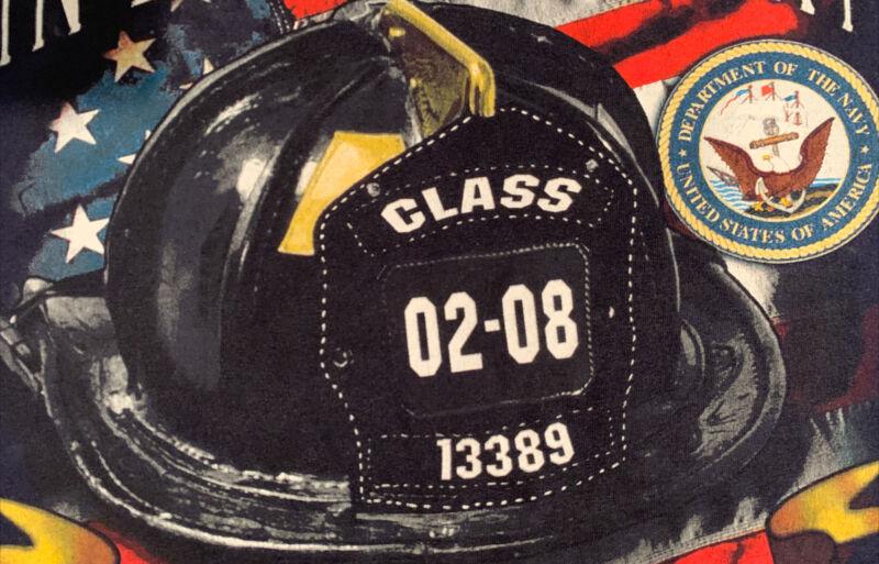 FDNY NYC Fire Department New York City T-shirt Sz 2XL Bronx
