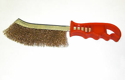 Stahldrahtbürste m. Messingborsten 260mm Drahtbürste Messingbürste Grillreiniger