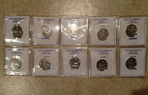 Lot of 10 ten - 1/2 Half Sheqel Shekel Israeli Israel Coin Coins Lion of Megiddo