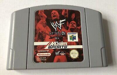 WWF Attitude N64 Nintendo 64 Loose Cartridge Only PAL