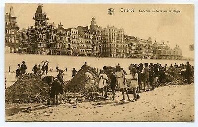 CPA - Carte Postale - Belgique - Ostende - Concours de Forts sur la Plage