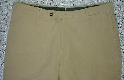 Incotex Beige Comfort Fit Chino Open Hem Trousers - W35/L37