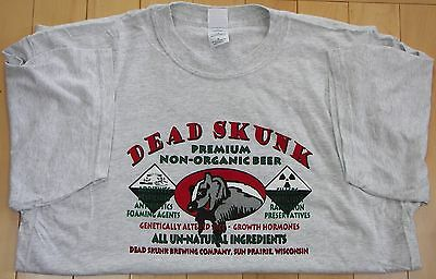 Dead Skunk Premium  Beer gray Large, XL or XXL t-shirt
