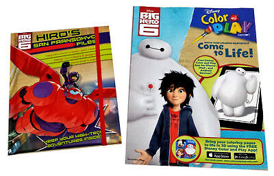 Disney Big Hero 6 Coloring Book Activity Books Customizable Adventure Journal