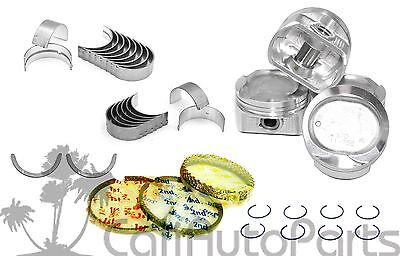 FITS: 98-99 Toyota Corolla Chevy Prizm 1.8L 1ZZFE PISTONS RINGS ENGINE BEARINGS