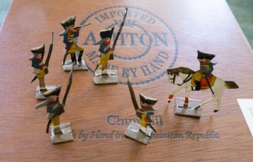 Antique Handmade Flat Tin Toy Soldiers of the Revolutionary War (52 Total)