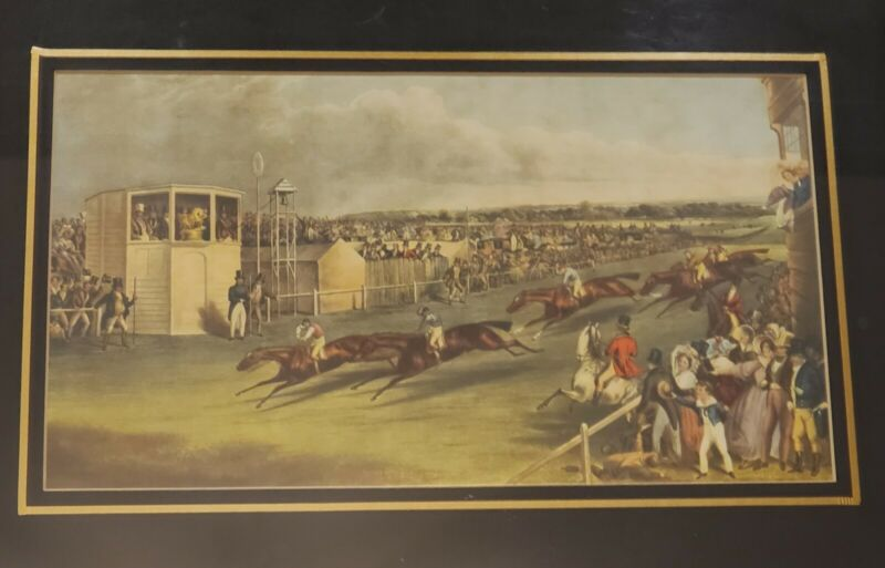 Ascot Heath Races by F.C. Turner Delt & R.G. Reeve sculpt - Vintage Framed Print
