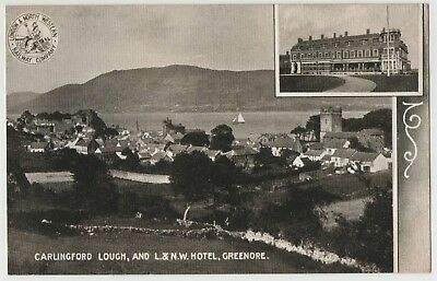 CARLINGFORD LOUGH AND L.& N.W. RAILWAY HOTEL GREENORE 1904 POSTCARD UN-POSTED