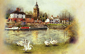 Upton upon Severn.Worcestershire.Signed Artists Print