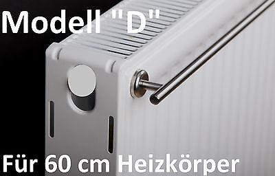 """""""D"""" Handtuchhalter für 60 cm Heizkörper mit Magnethalterung  Edelstahl Heizung"""