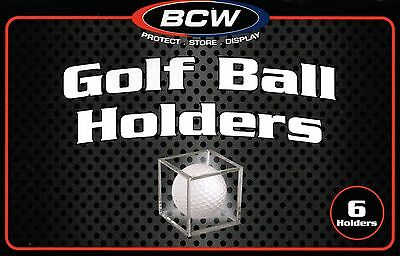 (2 Boxes BCW Golf Ball Display Cases Stackable Cube Holder Stand 12 Pack)