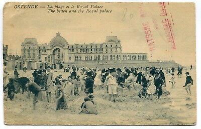 CPA - Carte Postale - Belgique - Ostende - La Plage et le Royal Palace (CP4898)