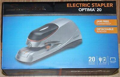 Swingline Optima 20 Electric Stapler 20 Sheets Silver48208