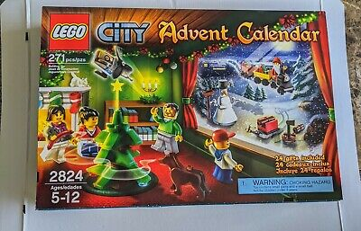 NEW LEGO CITY ADVENT CALENDAR #2824 FACTORY SEALED RETIRED & HARD TO FIND!!