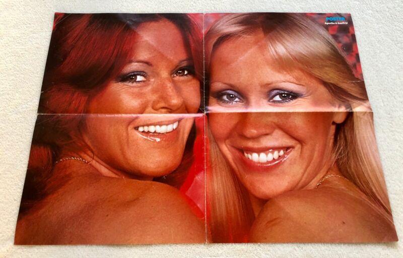 ABBA POSTER 1978 Swedish Poster Magazine 1970s Vintage Rare