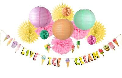 PAPER JAZZ Ice Cream Theme Party for Birthday Summer Party Pool Party BabyShower](Themes For Birthdays)