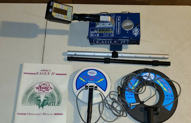 WHITES ELECTRONICS EAGLE II  METAL DETECTOR WITH 2 COILS
