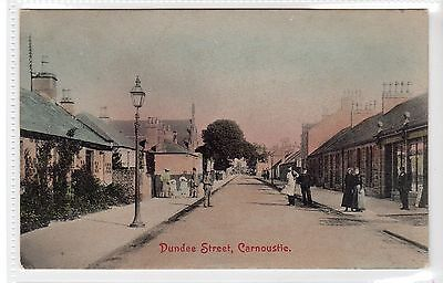 DUNDEE STREET, CARNOUSTIE: Angus postcard (C24967)