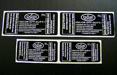 2000 Custom Printed Labels 1000 Each Of 2 Black Ink On White Film Uv Coated