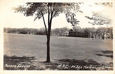 Des Moines Iowa Fort Dm Parade Ground Wac  Womens Army Corps 1940S Rppc