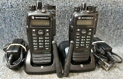 Motorola Xpr6550 Uhf Digital Dmr Mototrbo Set Of 2 Radios 430-470 Refurbished