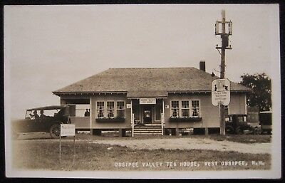 West Ossipee NH Ossipee Valley Tea House Classic Cars RPPC Postcard by  Putnam