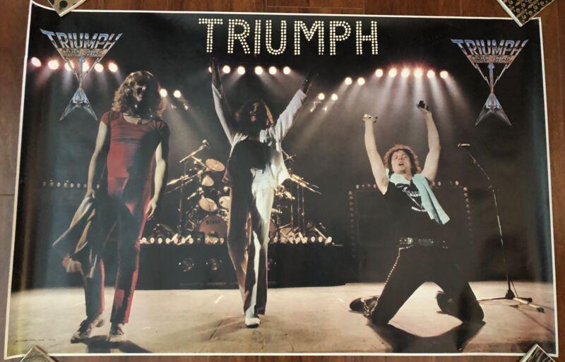 """VIntage 1981 Triumph Band Tour Poster 22""""x 34"""" Concert  Allied Forces #15-200"""
