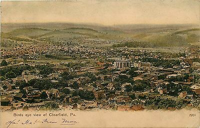 C1906 Pck Chromograph Postcard  Birdseye View Of Clearfield Pa Posted