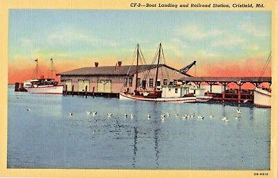 Boat Landing & Railroad Station in Crisfield MD OLD