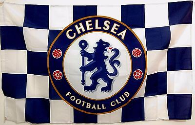 - Chelsea FC Flag banner 3ft x 5ft FOOTBALL Soccer blues Checkers Sticker as Gift