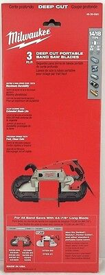 Milwaukee 48-39-0561 Standard 44-78 In. Band Saw Blade 1418 Tpi 3pk - In Stock
