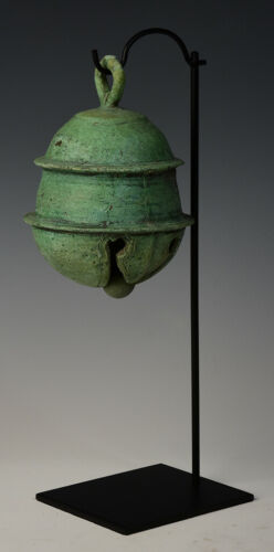 12th Century, Angkor Vat, Antique Khmer Bronze Elephant Bell