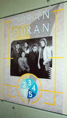 DURAN DURAN Group 1984 Vintage Poster  in NEW CONDITION