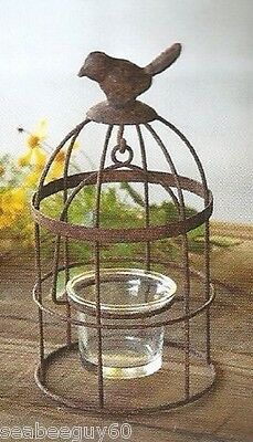 BIRDCAGE CANDLE HOLDER Votive Candle Holder Primitive Rustic WEDDING Bird Cage
