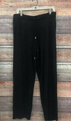 Neiman Marcus Rayon/ Cashmere Blend Pants Black Womens L Cashmere Blend Pants
