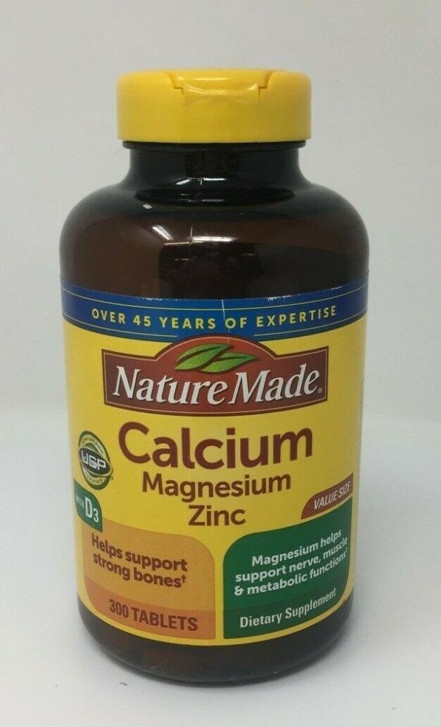 Nature Made Calcium Magnesium and Zinc Dietary Supplement