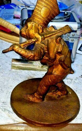 Japanese Antique Bronze Statues Samurai Monkey Okimono figurine Meiji Old Japan