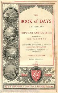 Chambers-Book-of-Days-Vintage-Book-on-Data-Disc-Antiquities-Curiosities