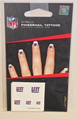 New York Giants Tattoos (NFL NEW YORK GIANTS 20 TEMPORARY FINGERNAIL TATTOOS FAST FREE)