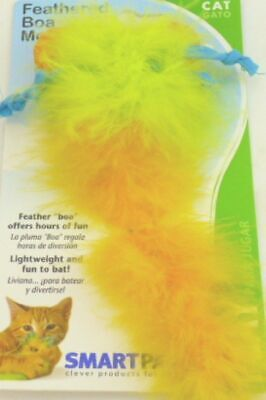 FEATHERED BOA MOUSE CAT TOY LIGHTWEIGHT & FUN TO BAT BY (Feather Boa Cat Toy)