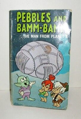 HANNA BARBERA FLINTSTONES PEBBLES AND BAMM-BAMM THE MAN FROM PLANET X BOOK - Pebble From Flintstones