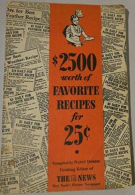 Vintage $2500 worth of Favorite Recipes for .25