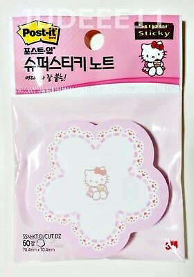 2ea Hello Kitty Post-it 3m Memo Pad Super Sticky Note Office Flower Cupcake Cute