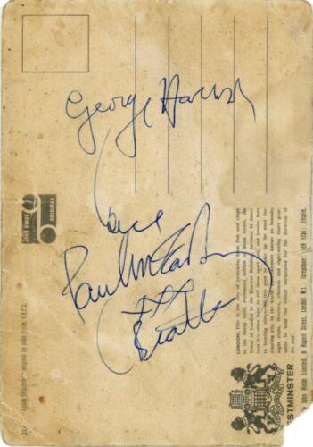 THE BEATLES SIGNED PAUL MCCARTNEY GEORGE HARRISON RINGO STARR COA