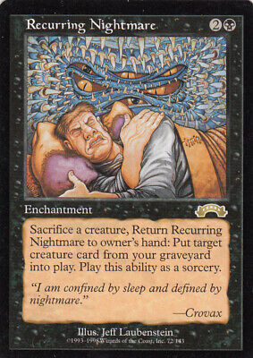Recurring Nightmare MTG Exodus NM