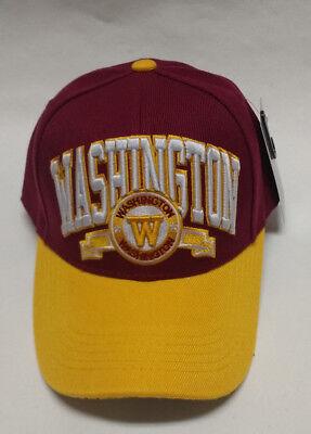 Washington Redskins Team Color  3D Embroidered Hat/Cap - EXCEPTIONAL QUALITY!! - Redskins Colors